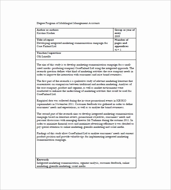 Integrated Marketing Plan Template New 10 Integrated Marketing Munication Plan Templates
