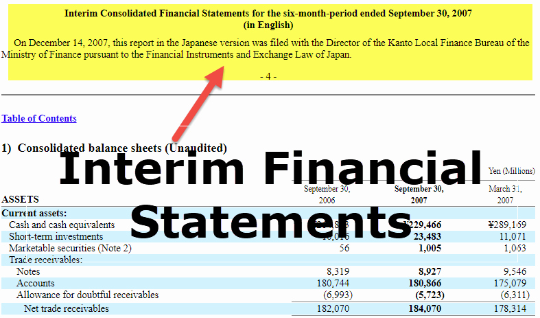 Interim Financial Statement Template New Interim Financial Statements Features Examples