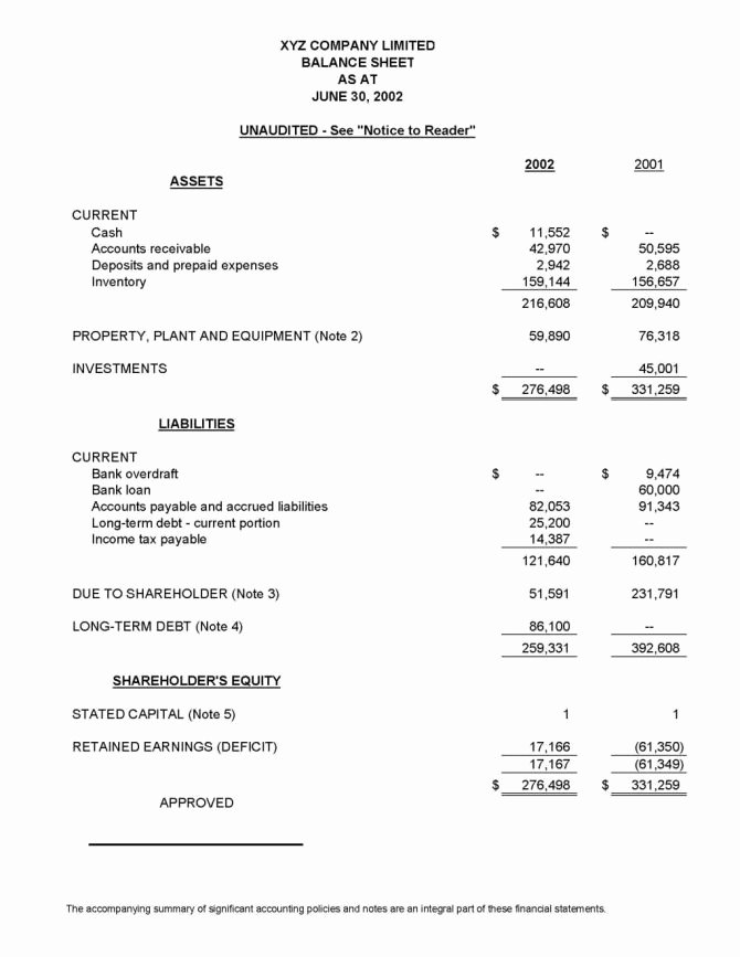 Interim Financial Statement Template Unique Interim Financial Statements Example