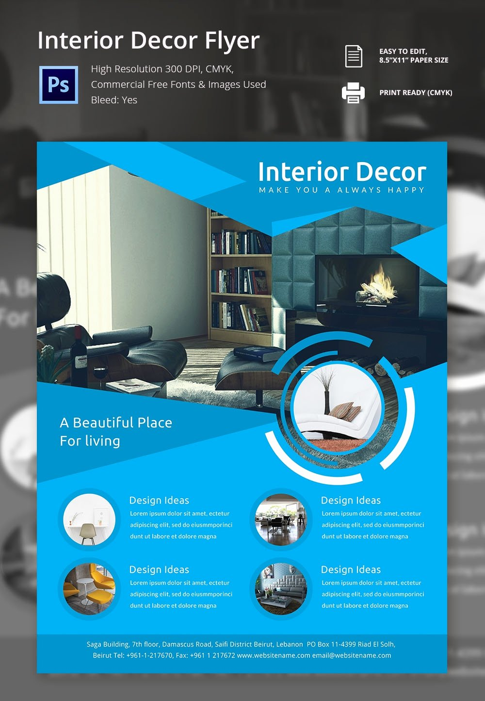 Interior Design Template Free Awesome 17 Interior Decoration Brochure – Free Word Psd Pdf