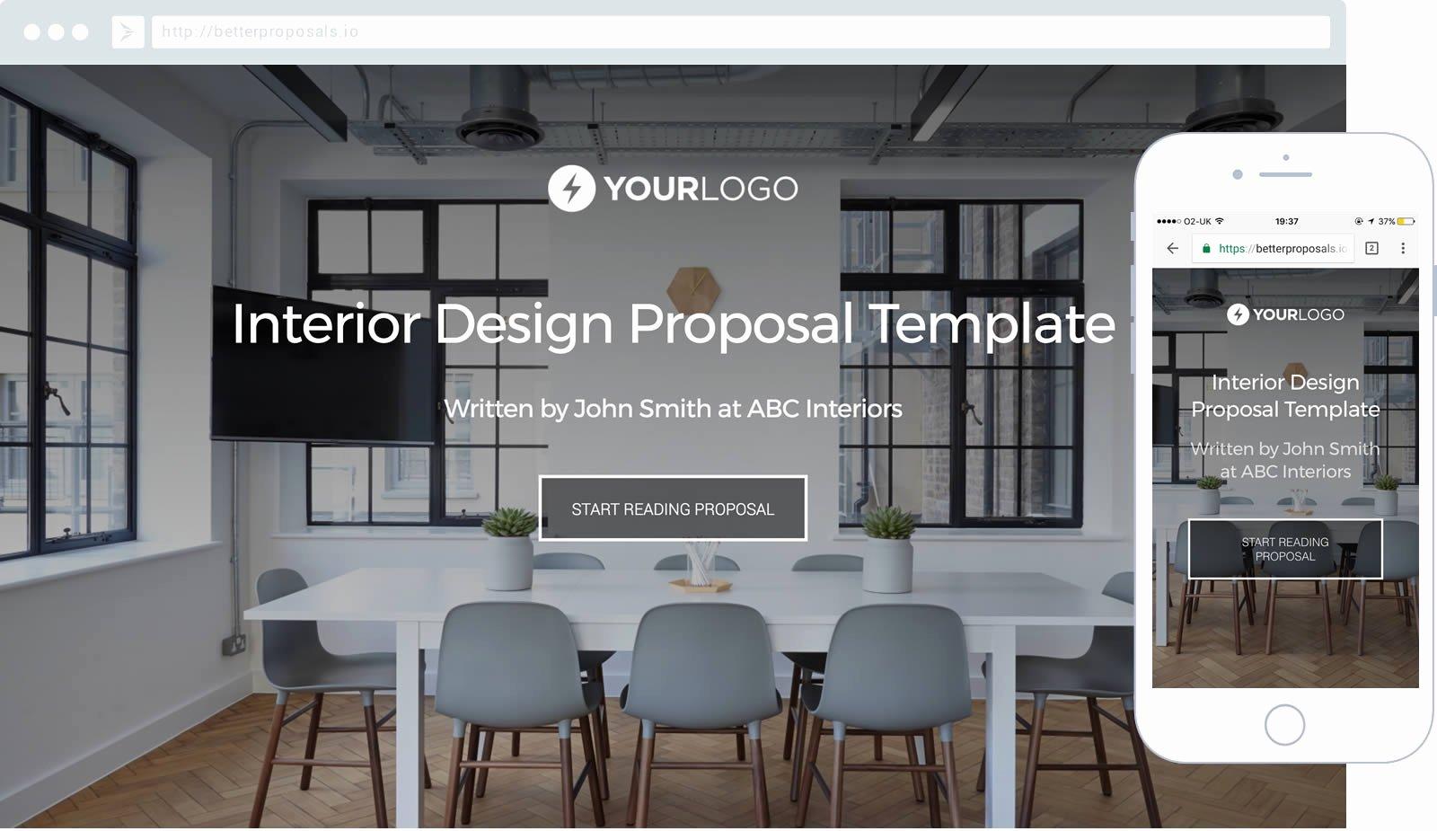 Interior Design Template Free Beautiful Free Interior Design Proposal Template Better Proposals