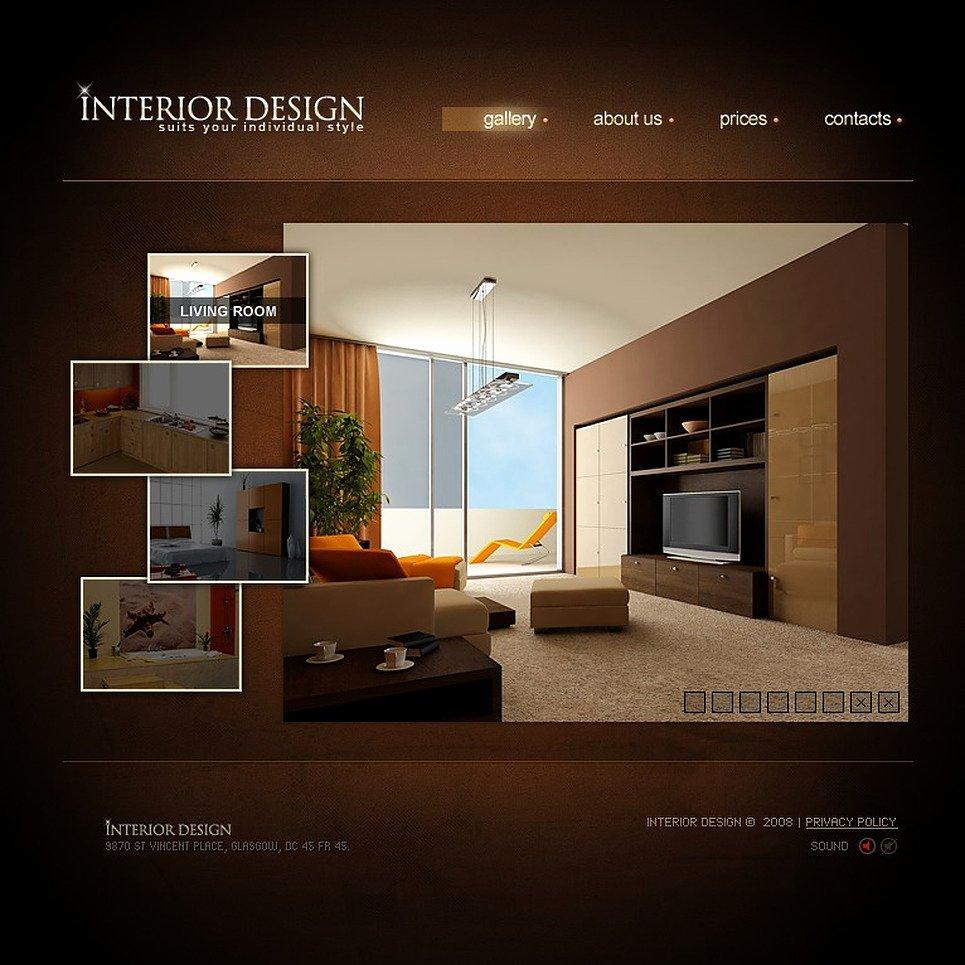 Interior Design Template Free Beautiful Interior Design Flash Template
