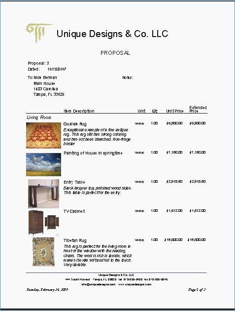 Interior Design Template Free Beautiful Interior Design Proposal Sample 1