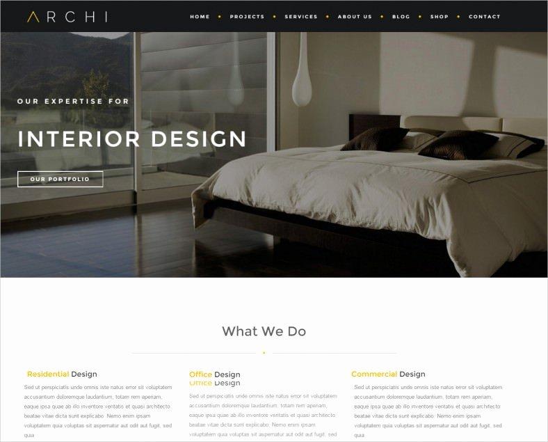 Interior Design Template Free Best Of 23 Interior Design Website themes & Templates