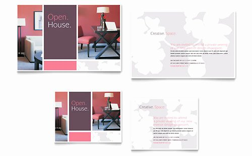 Interior Design Template Free Best Of Interior Designer Note Card Template Design