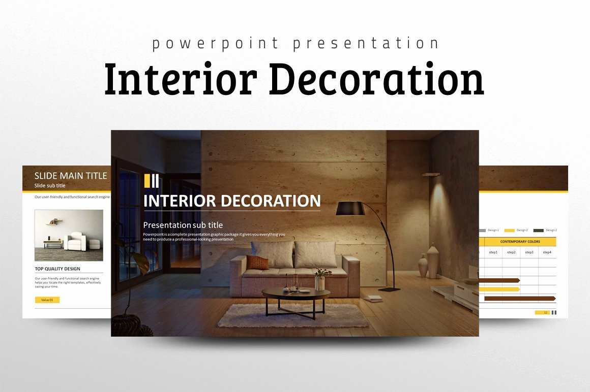 Interior Design Template Free Fresh Interior Decoration Ppt Presentation Templates