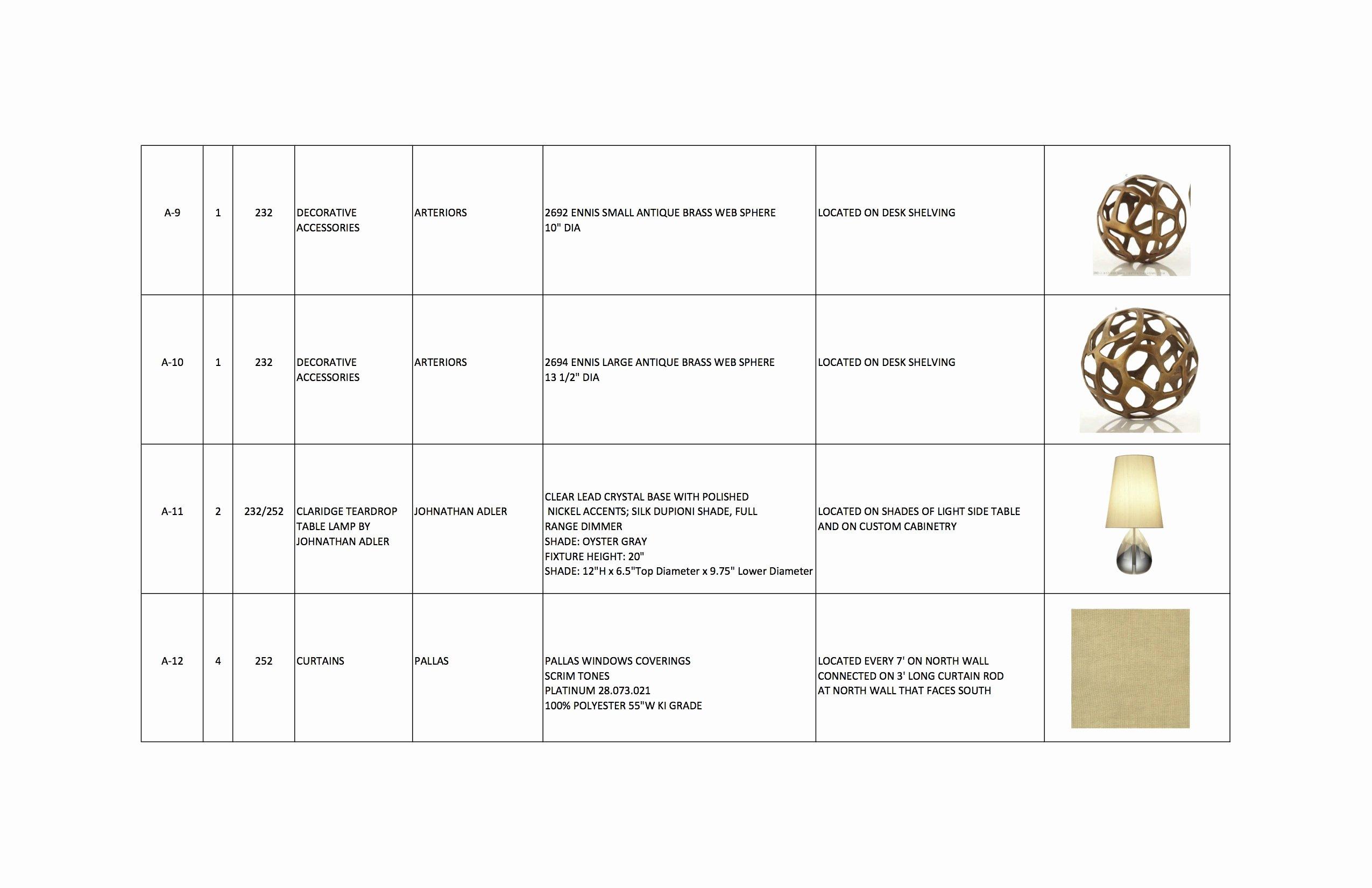 Interior Design Template Free Fresh Interior Design Furniture Schedule Example