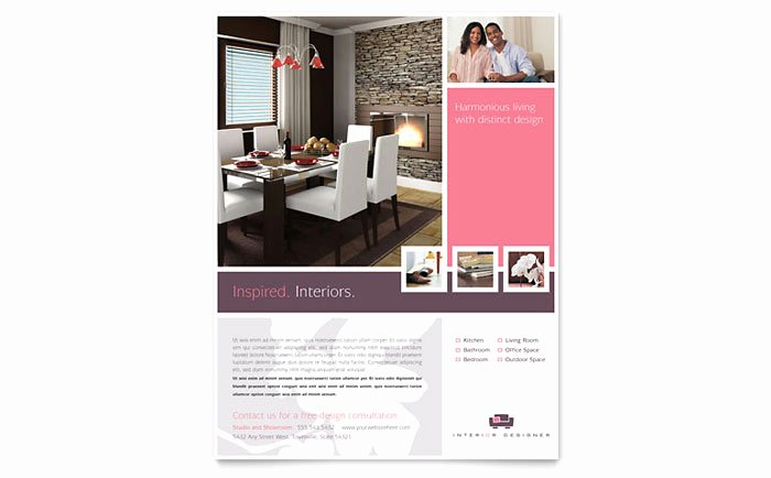 Interior Design Template Free Fresh Interior Designer Flyer Template Design