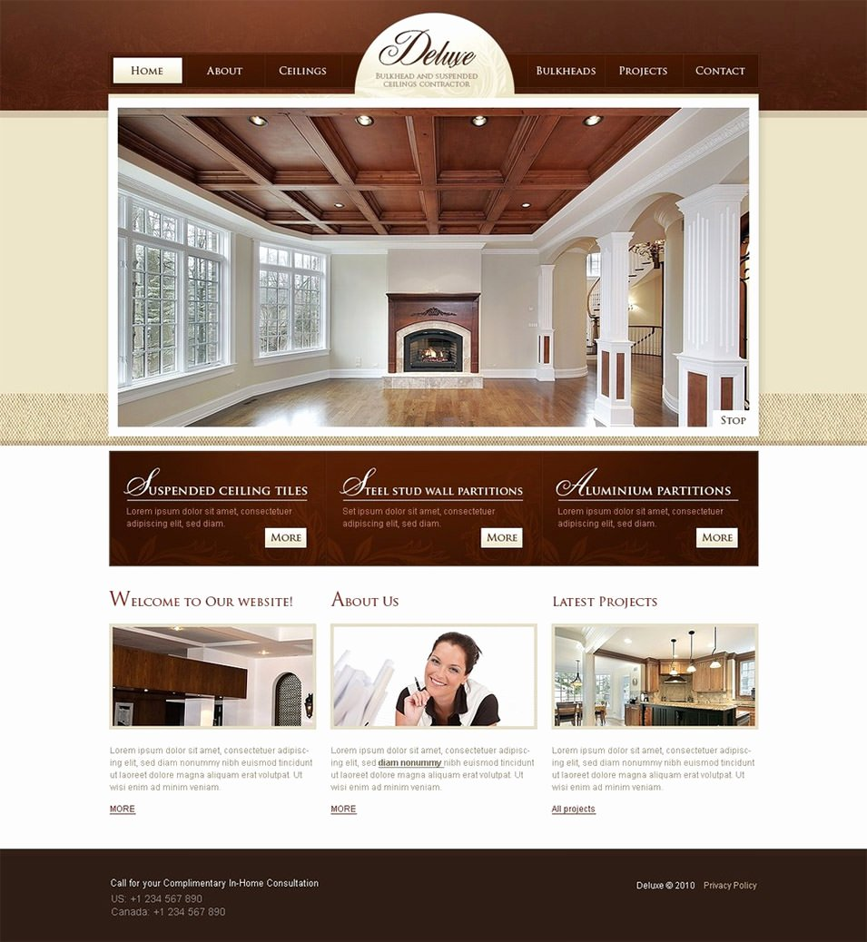 Interior Design Template Free New 6 Best Swish Interior Website themes & Templates