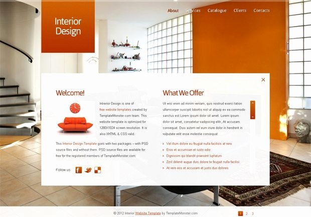 Interior Design Template Free New Free Full Javascript Animated Template for Interior Design