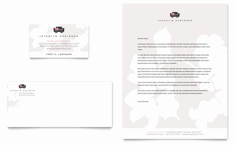 Interior Design Template Free New Interior Designer Business Card & Letterhead Template