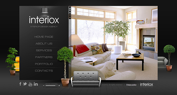 Interior Design Template Free Unique Interiox Interior Design Agency HTML5 Template On Behance