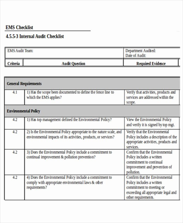 Internal Audit Checklist Template Beautiful 24 Checklist Templates In Word