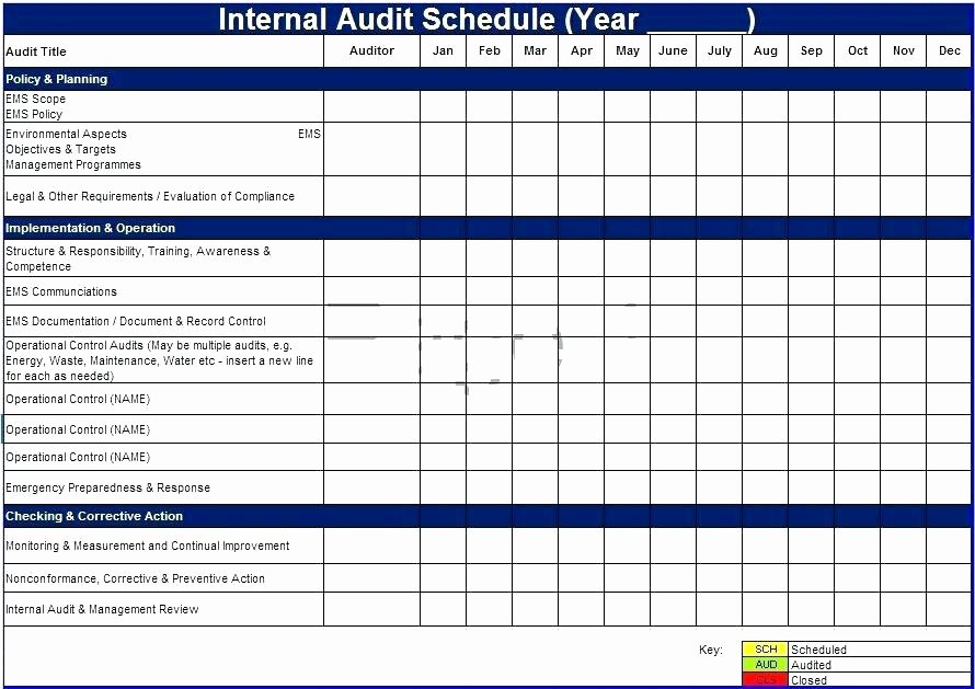 Internal Audit Checklist Template Excel Awesome Internal Control Template Internal Control Audit Report