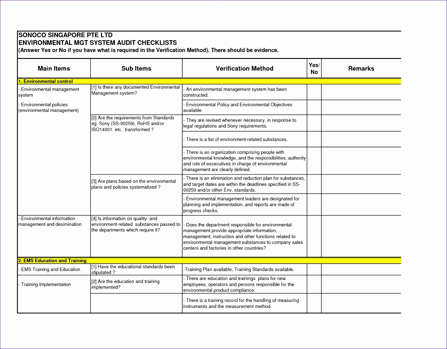 Internal Audit Checklist Template Excel Beautiful 6 Audit Checklist Template Excel Exceltemplates