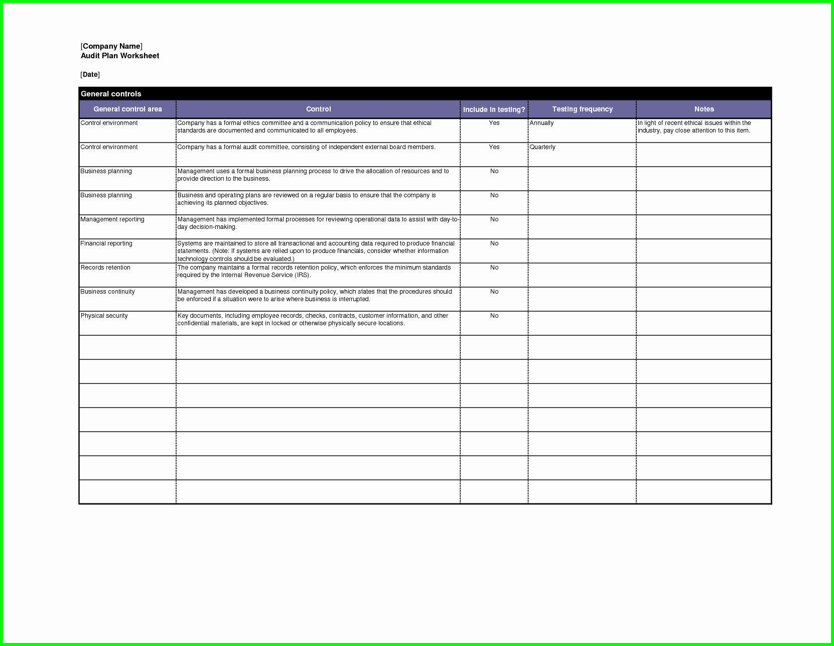 Internal Audit Checklist Template Excel Fresh Audit Plan Template Excel