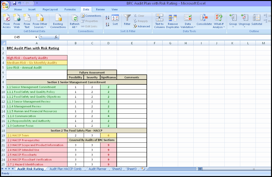 Internal Audit Checklist Template Excel Fresh Internal Audit Schedule Template