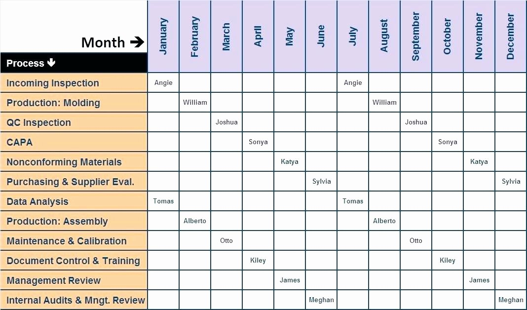 Internal Audit Checklist Template Excel Inspirational Internal Audit Schedule Sample Plan Example Checklist