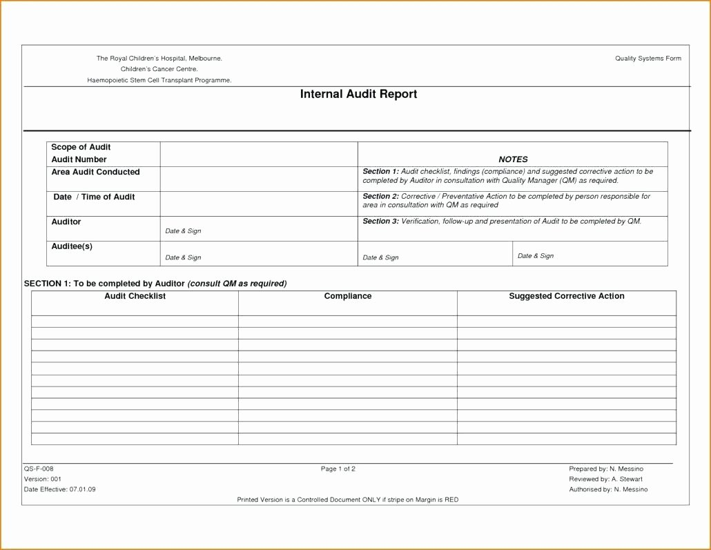 Internal Audit Checklist Template Excel Lovely Template Simple Contingency Plan Template Business