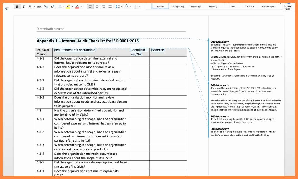 Internal Audit Checklist Template New 20 Amazing Internal Audit Scope Template Opinion Resume