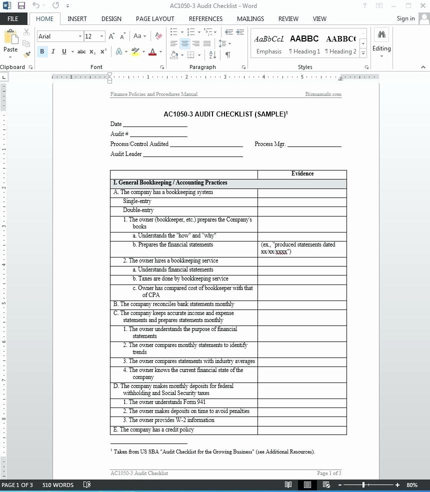 Internal Audit forms Template Awesome Internal Quality Audit Template