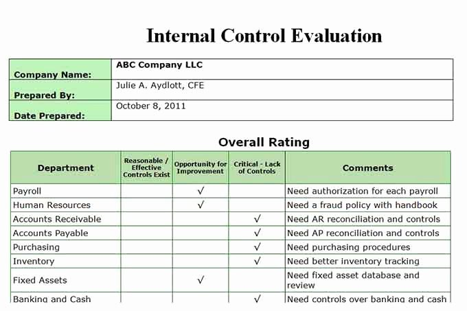 Internal Audit forms Template Luxury Auditor forms Vitalics