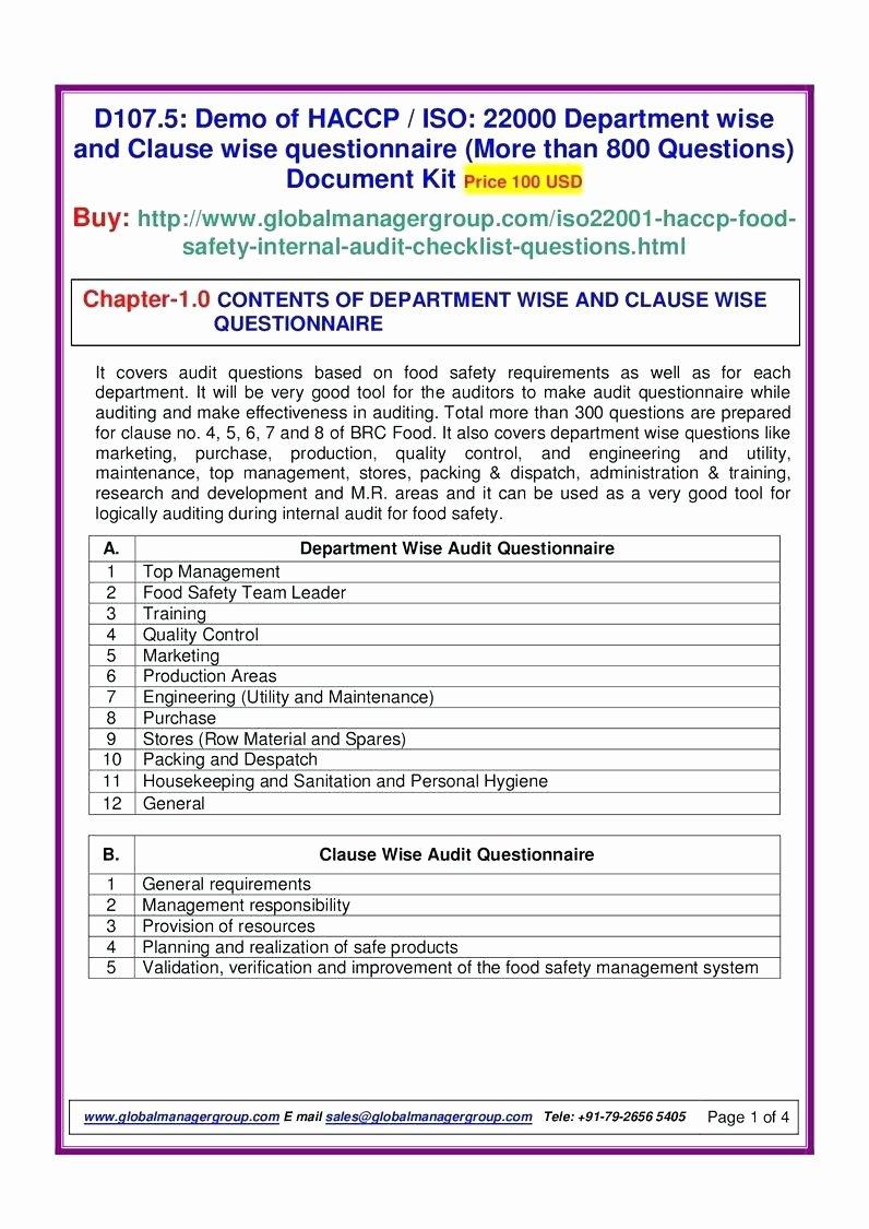 Internal Audit forms Template Unique Internal Audit Template Checklist