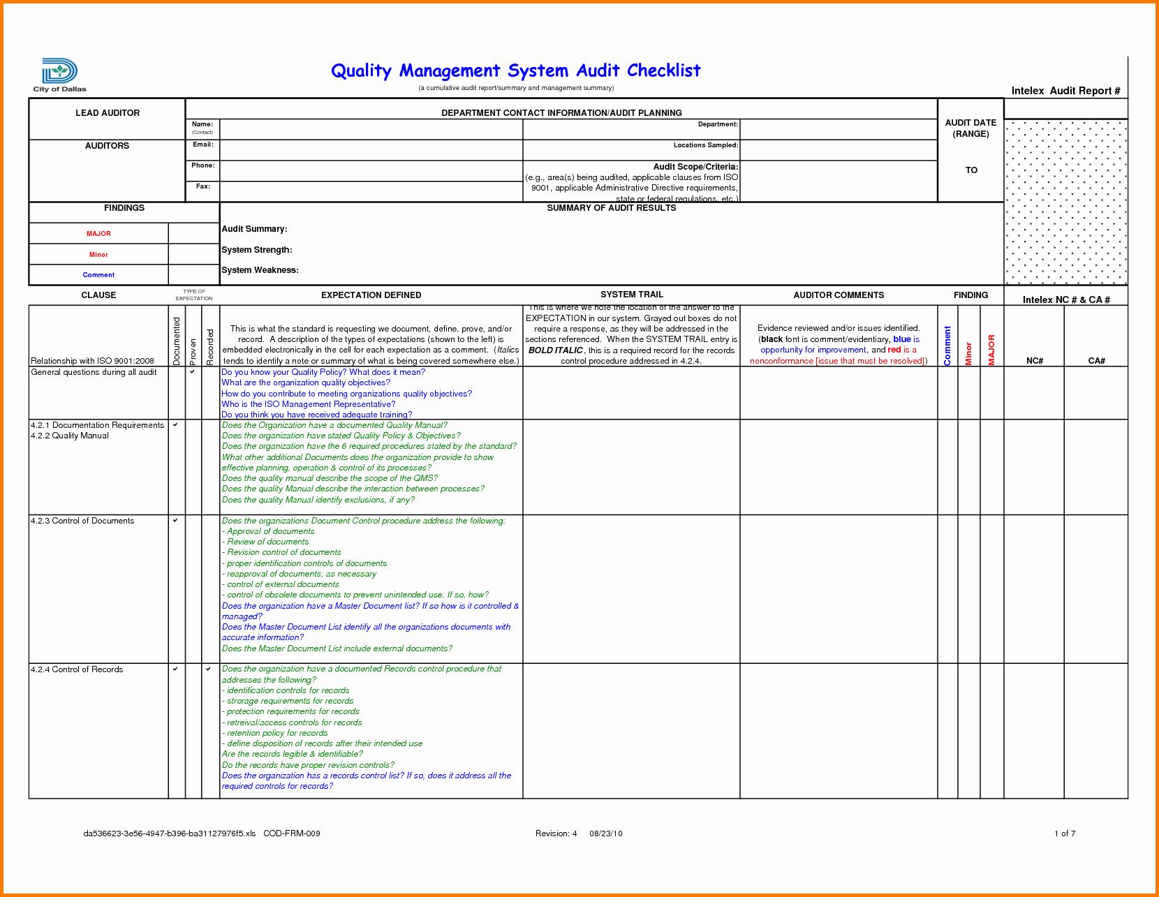 Internal Audit Planning Template Lovely Sample Internal Audit Report Template