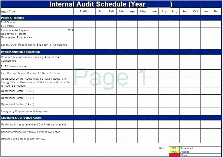 Internal Audit Planning Template New Internal Audit Report Sample Free Working Papers Template