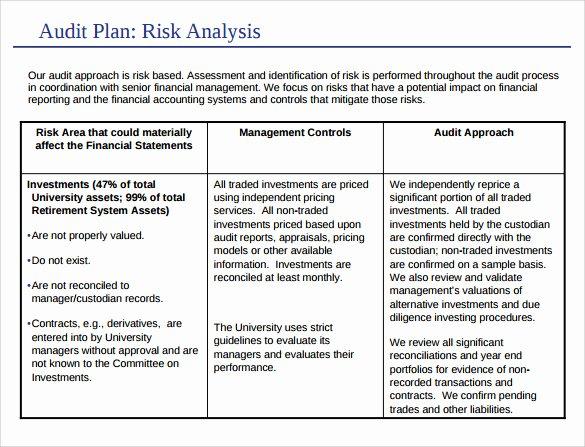 Internal Audit Planning Template Unique 8 Sample Audit Plan Templates – Word Pdf