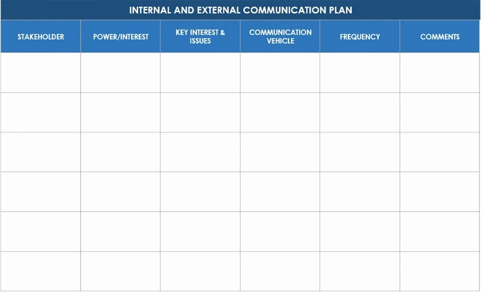 Internal Communication Plan Template Awesome Free Munication Strategy Templates and Samples