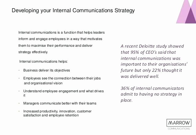 Internal Communication Plan Template Beautiful Internal Strategy Template Create How to Write A Plan