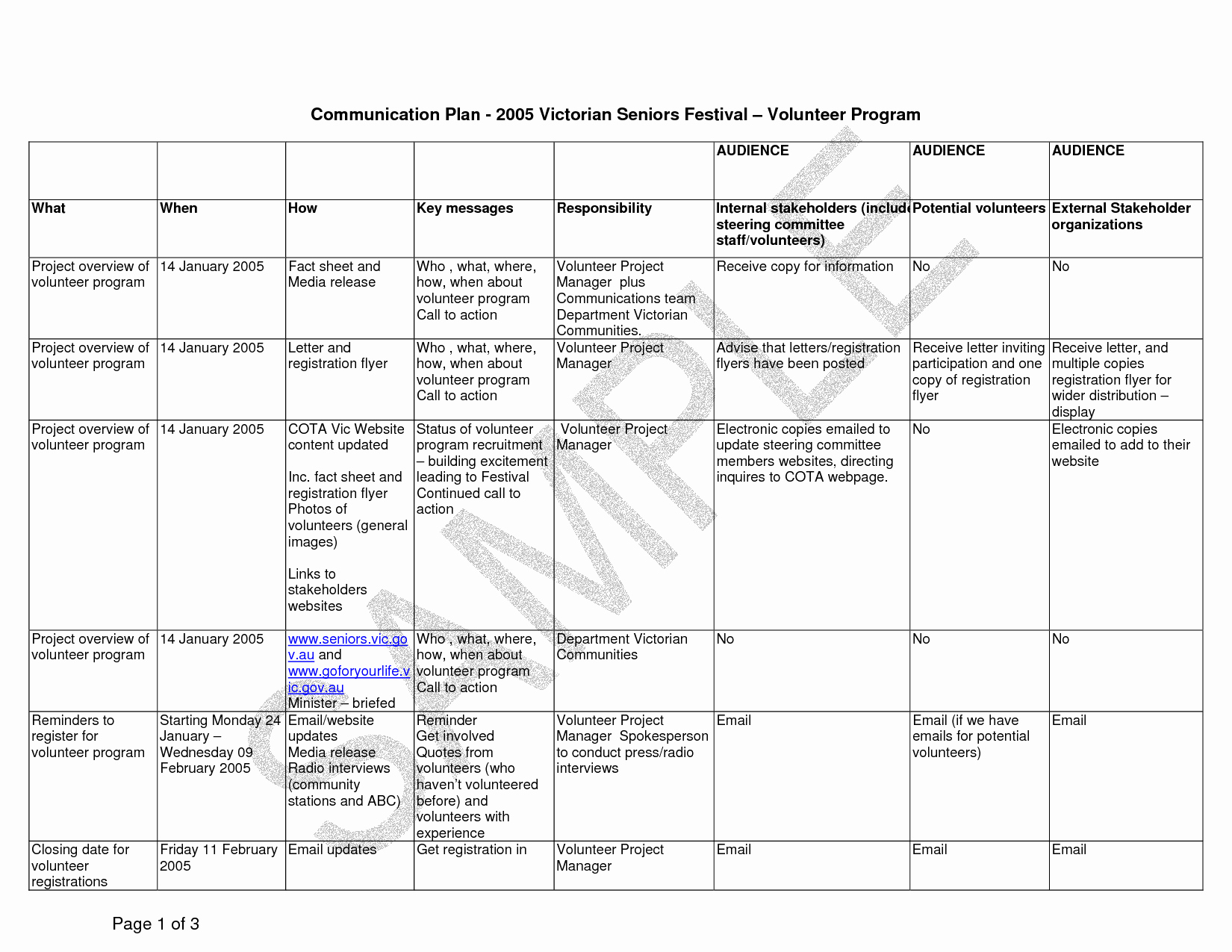 Internal Communication Plan Template Unique Internal Munication Plan Template