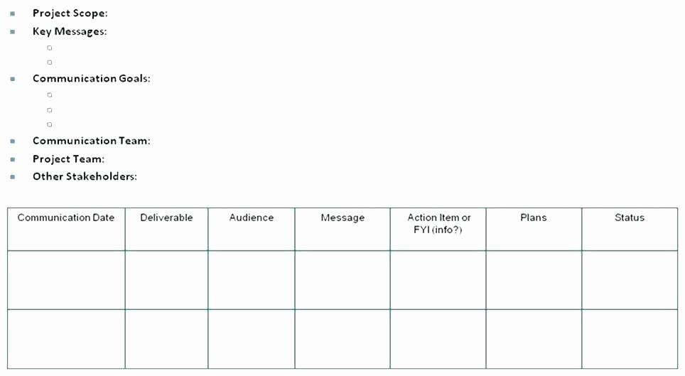 Internal Communication Strategy Template Beautiful Internal Munications Plan Template