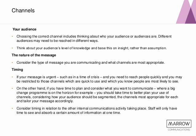 Internal Communication Strategy Template Luxury Developing Your Internal Munications Strategy