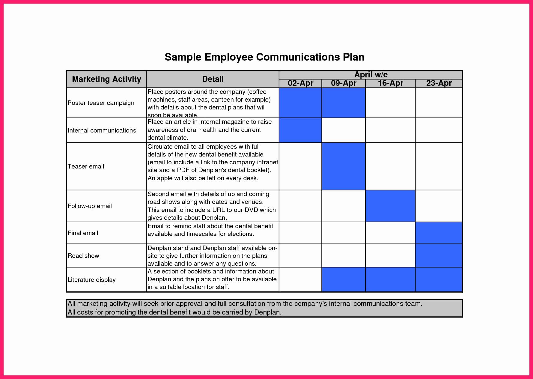 Internal Communication Strategy Template New Munication Plan Template