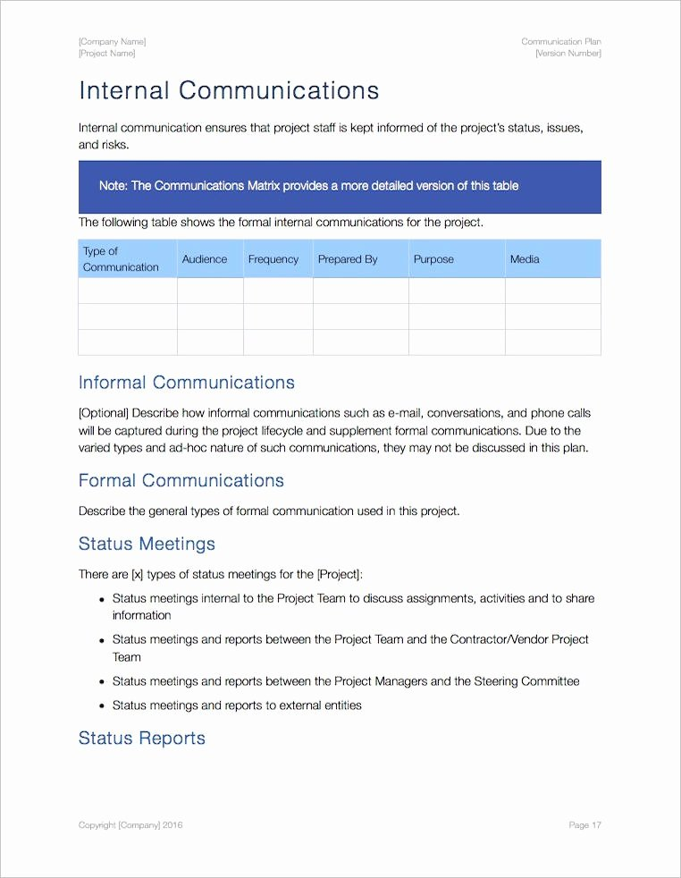 Internal Communications Plan Template Beautiful Munication Plan Apple Iwork