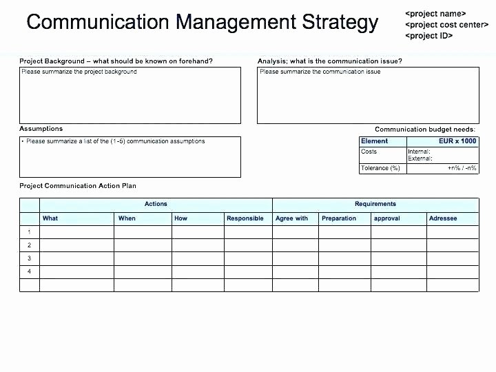 Internal Communications Plan Template Best Of Internal Crisis Munications Plan Template Free