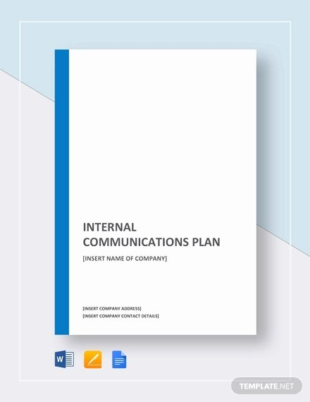 Internal Communications Plan Template Fresh Internal Munication Plan Template 4 Fee Word Pdf