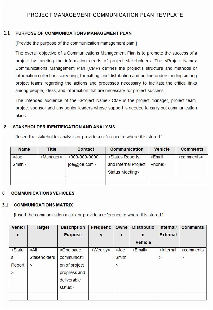 Internal Communications Plan Template Inspirational Data Governance Munication Plan Template Templates