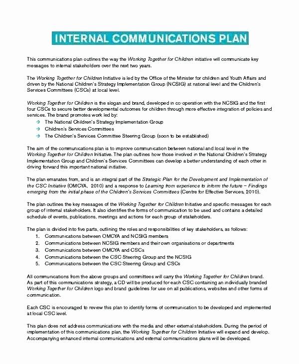 Internal Communications Strategy Template Beautiful Strategic Munications Plan Template Lovely Client