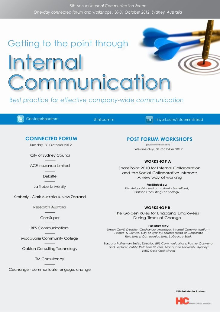 Internal Communications Strategy Template Best Of Ark Group S 8th Annual Internal Munication forum