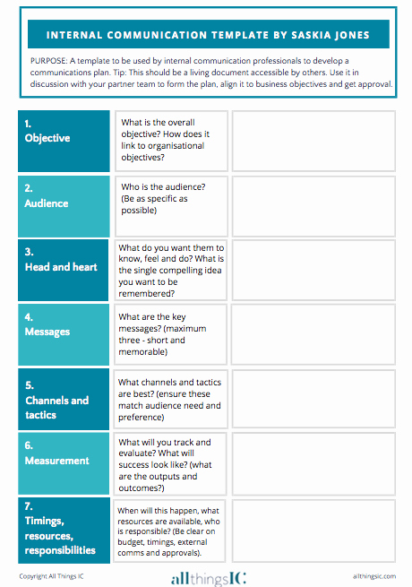 Internal Communications Strategy Template Unique Free Internal Ms Plan Template