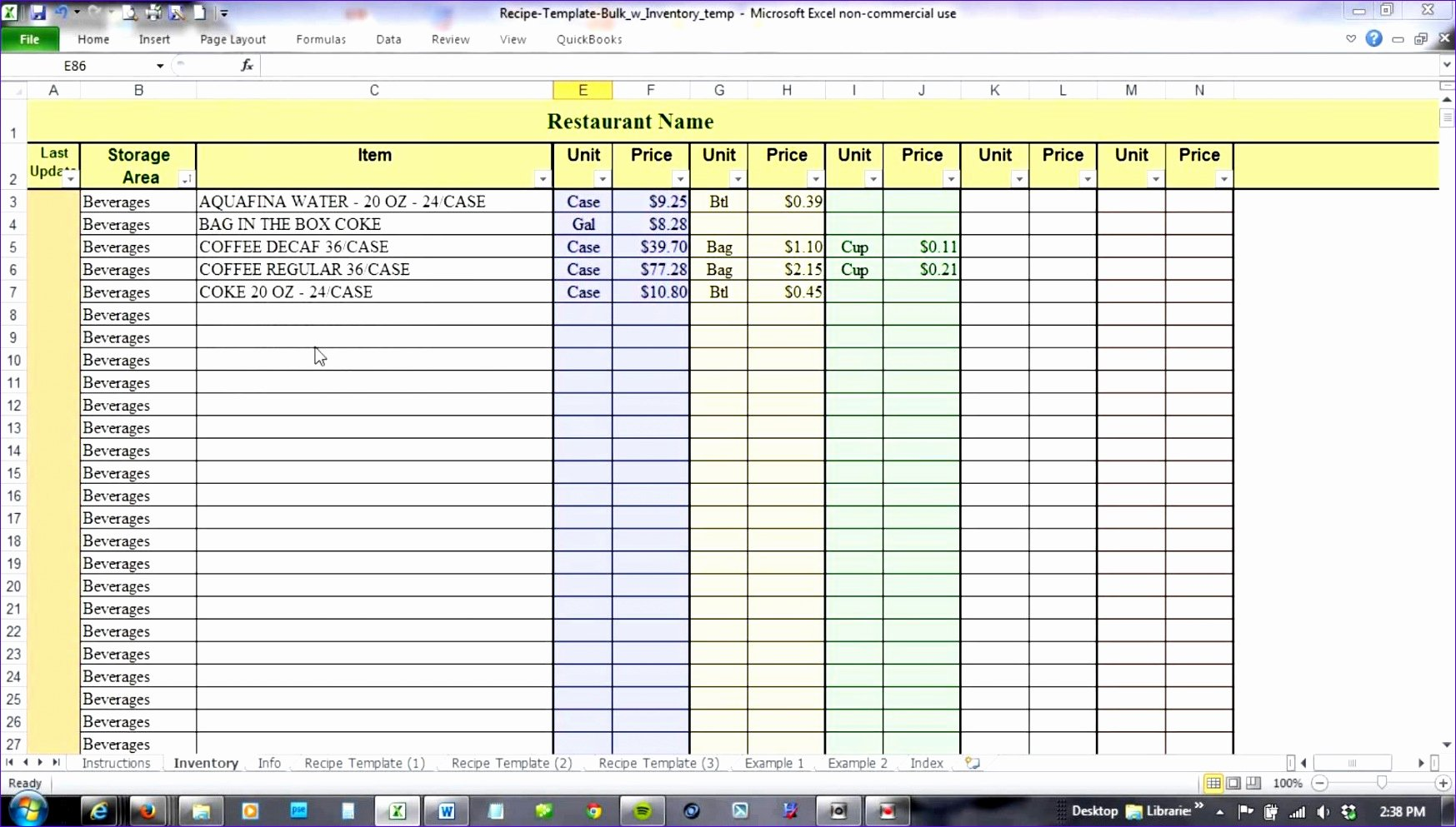 Inventory Control Excel Template Awesome 10 Free Excel Templates for Inventory Management