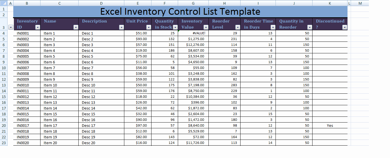 Inventory Control Excel Template Best Of Excel Inventory Control List Template Xls