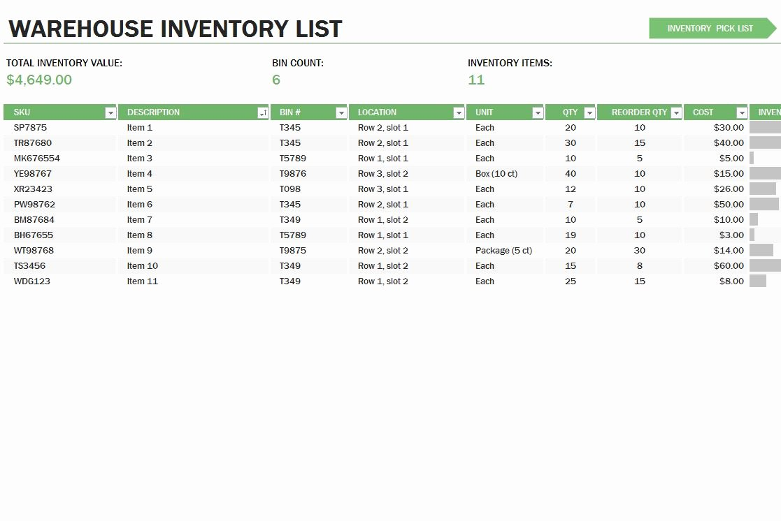Inventory Control Excel Template Best Of Warehouse Inventory Control Template