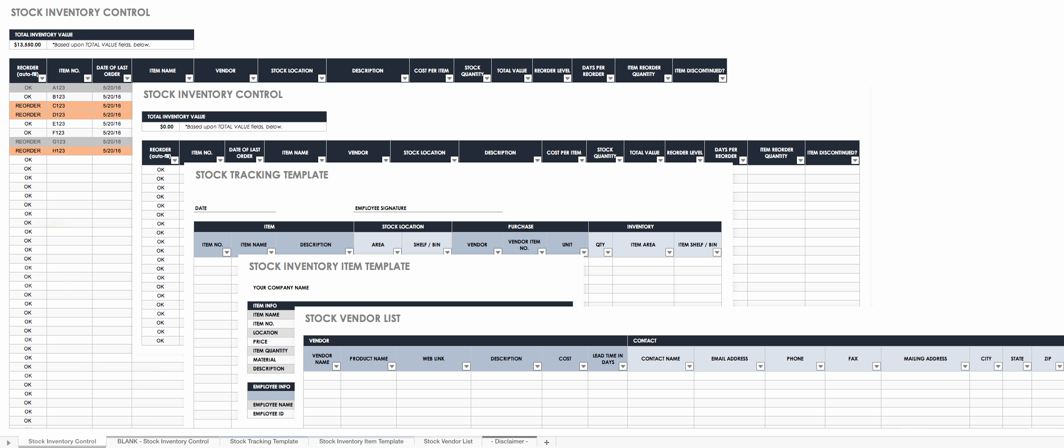Inventory Control Excel Template Elegant Free Excel Inventory Templates