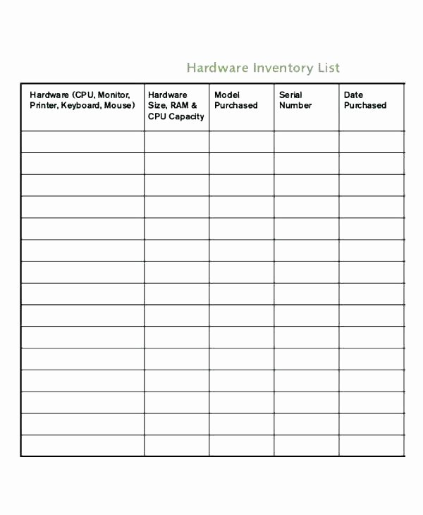 Inventory Cycle Count Excel Template Elegant Weekly Inventory Sheet Count Template Physical format