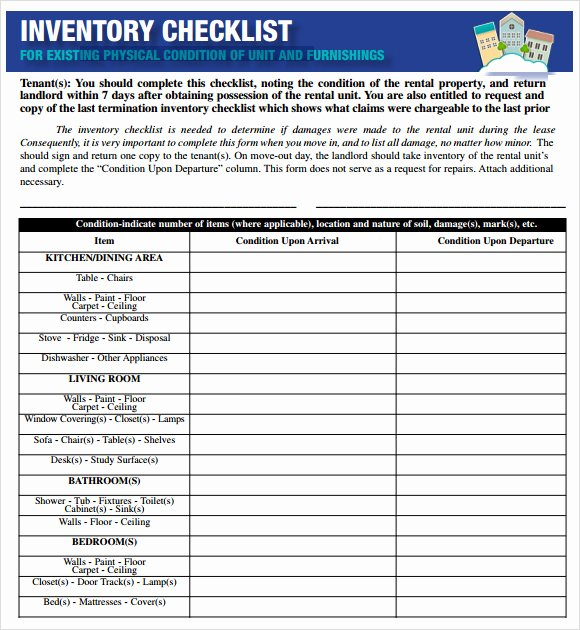 Inventory List Template Excel Awesome 17 Sample Inventory Checklist Templates