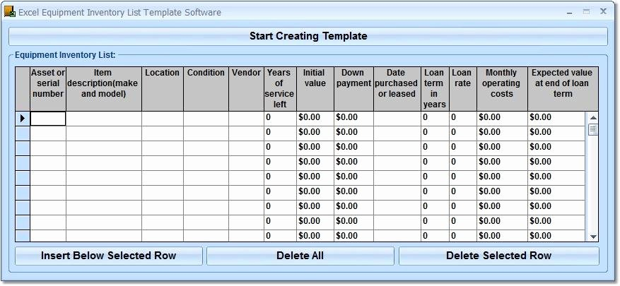 Inventory List Template Excel Best Of Excel Equipment Inventory List Template software Free